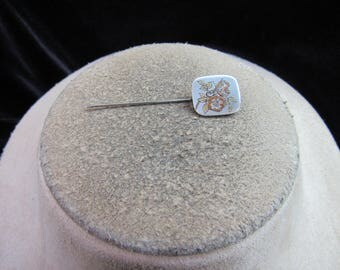 Vintage Signed Reed & Barton Floral Sick Pin