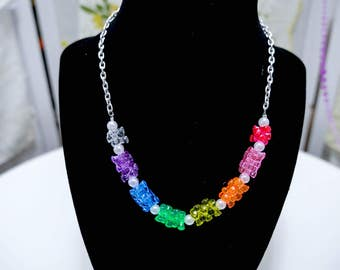 Rock Candy Necklace in a variety of colors - So Kawaii !! J-fashion Decora Lolita Fairy Kei