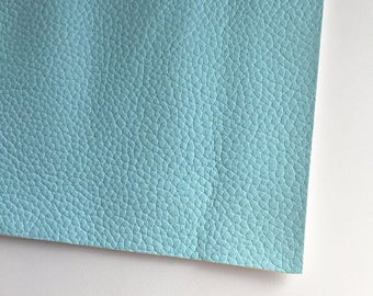 Sky Blue Textured Faux Leather, Vinyl, Leatherette, Blue, Vegan Leather, Hair Bow, Fake Leather, Faux Leather Sheet, Blue Leather, Pale Blue