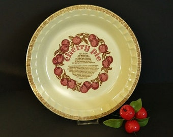 Vintage Cherry Pie Plate from Royal China Jeannette