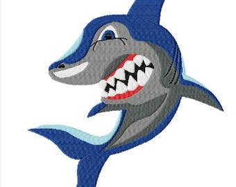 Shark- A Machine Embroidery Design for Shark Lovers or Shark Week