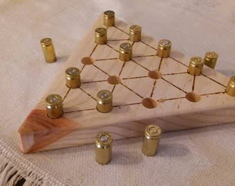 Wooden triangle brain teaser puzzle