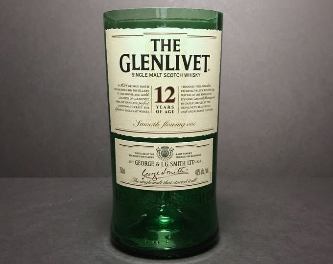 Recycled Glenlivet 12 Scotch Whisky Bottle Candle