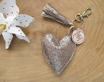 """Heart"" ""MOM"" keychain"