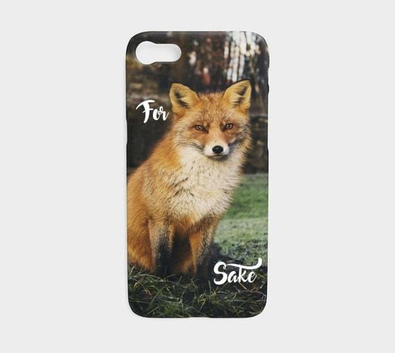 For Fox Sake, Smart phone case, iPhone case, Samsung case, Fox Photograph, Funny Device Case