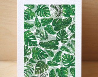 Leafy Collage Card