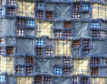 Denim Rag Quilt Blanket
