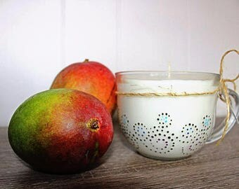 Hand Painted Mug Candle
