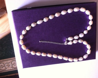 Sterling Silver and Freshwater Pearls in palest Pink