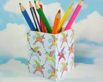 Cute Unicorn Pen Pot, or altetnatively as a Make Up Pot. Makes a great Christmas Gift & Stocking Filler