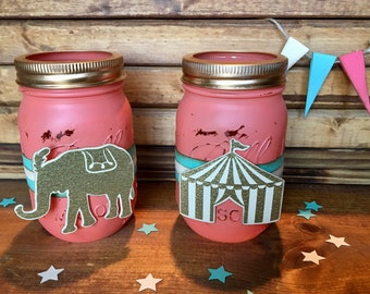 Vintage carnival/circus utensil holders/party decor