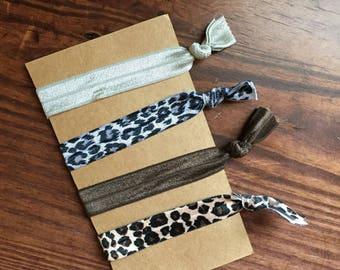 Cheetah print hair elastics/Hair Elastics/Hair ties/Animal print hair elastics/Animal print hair ties/Cheetah print hair ties/Hair Diddies