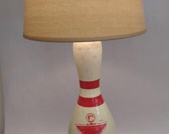 Bowling Pin Lamp - Vintage