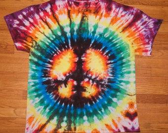 Peace Sign Tie Dye 3XLarge