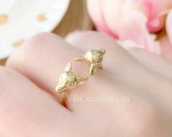 Bambi Head Ring - Deer Ring - Fawn - Deer Head - Disney Ring - Disney Jewelry - Original - Silver - Gold - Best Friend Gift - Gift for her