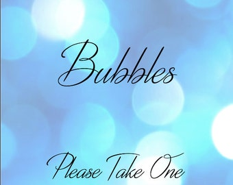 Wedding Bubbles Sign Printable - Blue Bubbles