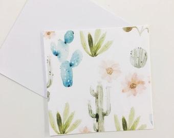 Cactus pattern blank card