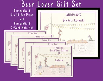 Personalized Gifts For Men, Beer Gift, Gift Sets, Personalized Gift Sets, Beer Lover, Beer Print, Gift For Men, Personalized Gifts