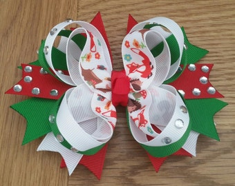 Forest Friends Stacked Boutique Bow