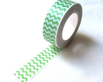 Lime green zigzag washi tape