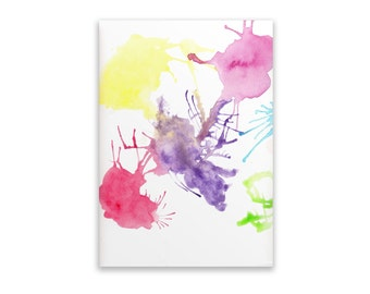 Notepad - Watercolour Splatter, Notepad, Stationery, Recycled Paper, Watercolour, Writing Lined, Watercolour, Hand Painted
