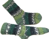 Green socks, grandpa gift, hand knitted wool socks, men socks, warm men socks, wool men socks, gift for Dad, gift for him, gift under 30