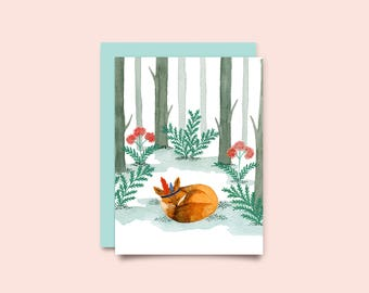 Greeting Card Fox
