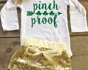 Baby Girl St Patricks Day Outfit - St Patricks Day Outfit for Baby Girl - Baby St Patricks Day Bodysuit - St Patricks Day Baby Bodysuit