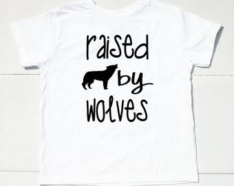 Raised by Wolves Toddler Boy Shirt for Boy - Hipster Shirt for Boy - Boys Hipster Shirt - Hipster Clothes - Hipster Clothing for Boys