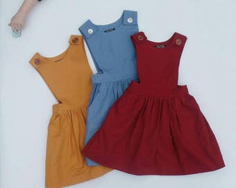 toddler pinafore, first birthday outfit girl, girls dress, girls pinafore dress, girls summer outfit, toddler girls summer dress