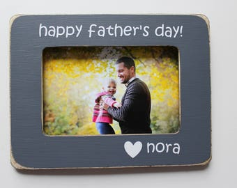 Father's Day Picture Frame, Gift For Dad, Grey Picture Frame, Rustic Frame, 4 X 6 Frame