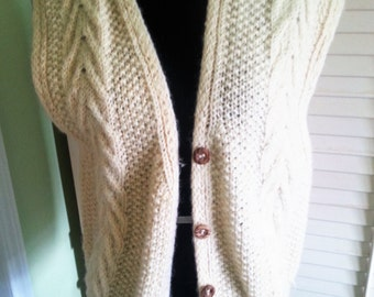 Vintage sweater, vintage vest, vintage wool sweater, vintage wool vest, wool sweater A4