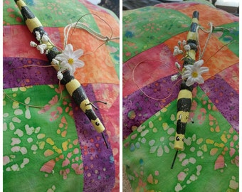 The Bees Knees~ Whimsical Bee Ornament