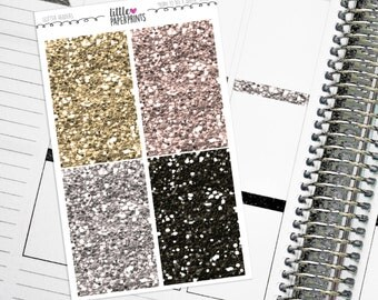"""32 Headers - """"Born To BEE A Queen"""" Glitter Series Stickers - Glitter Sparkle Header Planner Stickers"""
