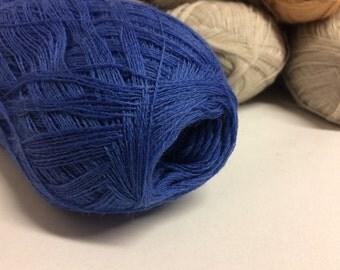 1400m Shawl yarn Blue Cobweb yarn wool yarn  100gr haapsalu Cobweb lace yarn shawl yarn laceweight yarn haapsalu cobweb blue wool yarn