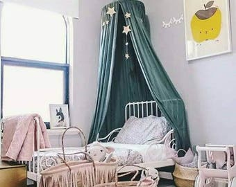 Bed Curtains canopy bed curtains for kids : Canopy bed curtains | Etsy