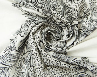 "Dressmaking Fabric Cotton Fabric For Sewing Designer Sewing Fabric Toile Pattern Craft Cotton Voile White Apparel Drape 43"" in Pcs ZBC3196"