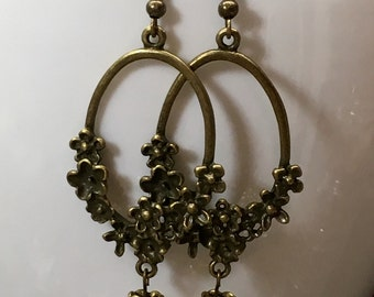 Vintage drop pearl earrings