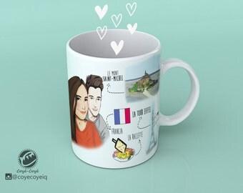 Personalized illustration for mug