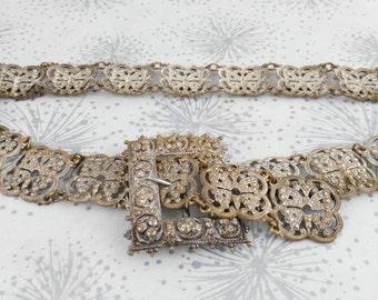 Butterfly Belt - Vintage Metal Belt - Steampunk Belt - Tribal Fusion Belt - Mother's Day Gift - Cosplay Belt - Metal Belt - Gift for Women