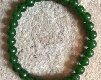 Genuine Natural Emerald semi precious gemstone 6mm bracelet