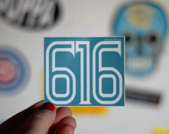 616 west michigan sticker