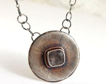SALE 20% off !!- use the coupon code: SALE20 rutilated quartz silver pendant necklace