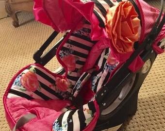 Orbit Custom Car Seat Cover, Orbit G1, G2, G3 Baby Car Seat Custom Covers, Watercolor Stripe Orbit Baby Covers, Fancy Orbit Carseat Covers