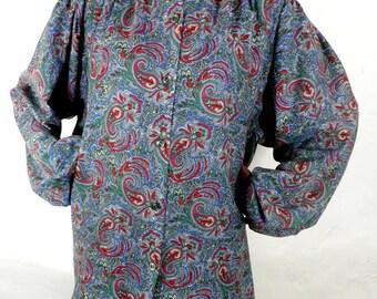 Vintage Paisley Oversized Shirt   Plus Size