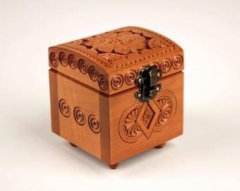 Wooden box, Storage box, Jewelry wood box, Wood box, Gift box, Rustic small box, Small wooden box, Keepsake box
