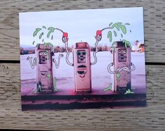 gas station photo print