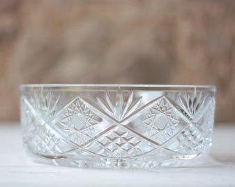 Vintage Baccarat Crystal Bowl, Fruit Salad Bowl, Vintage Crystal