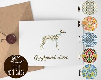 Greyhound Note Cards