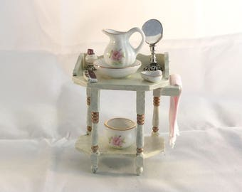 Beautiful hand painted Washbasin for dollhouse 1/12 scale
